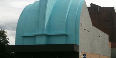 Longford / Essoldo Stretford building looking good in August 2011
